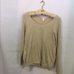 Victoria's Secret's large tan lightweight sweater